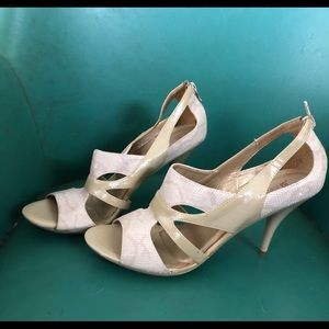Beige and cream high heels
